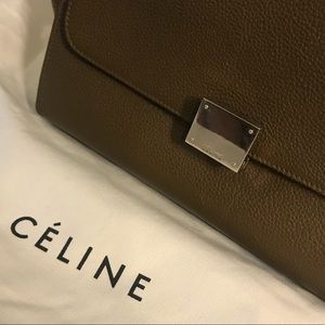 Celine Bags - Celine Small Trapeze in Moss Green